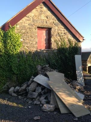 wall debris