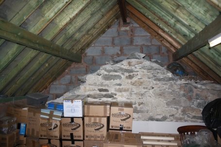 The first floor was used as storage by the previous owner