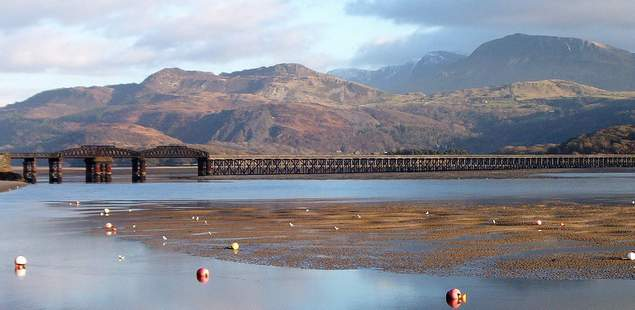 Cadair Idris and Barmouth Bridge