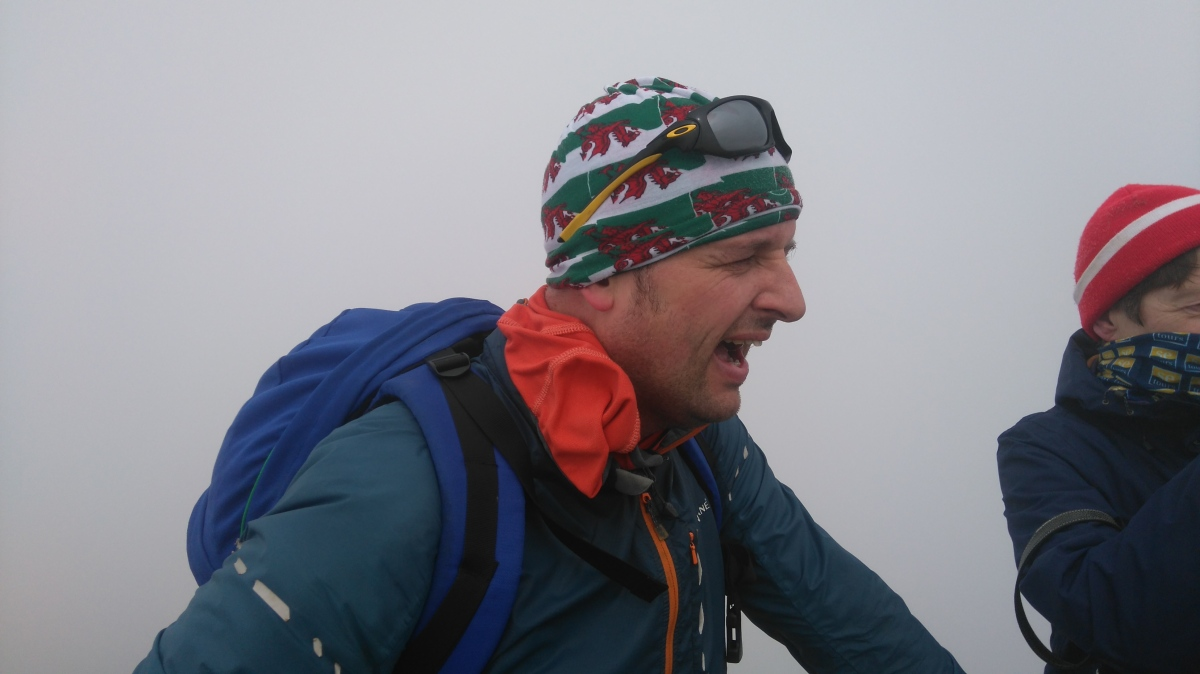 Gasping for air on Snowdon