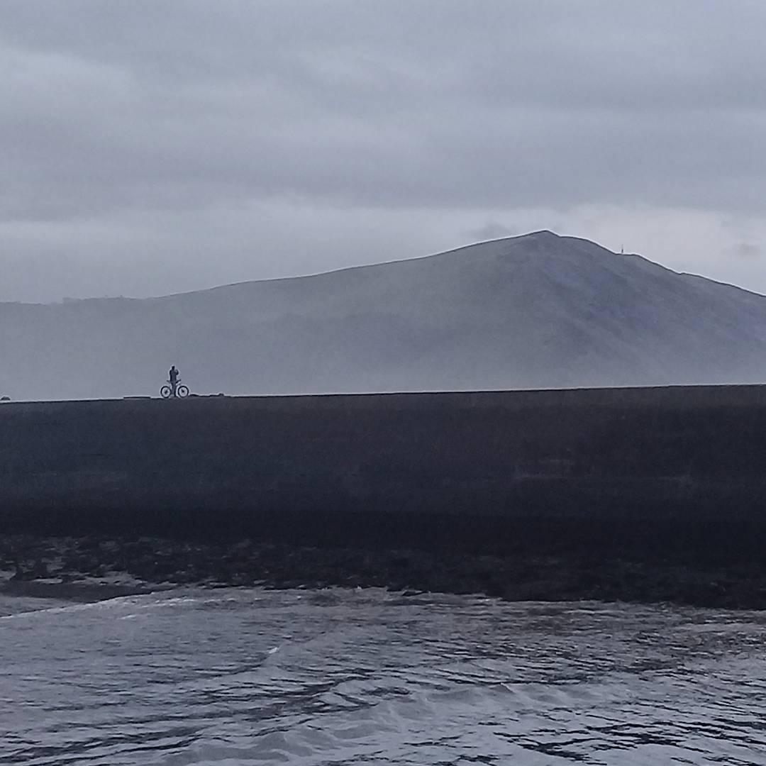 Aberystwyth mist and bike