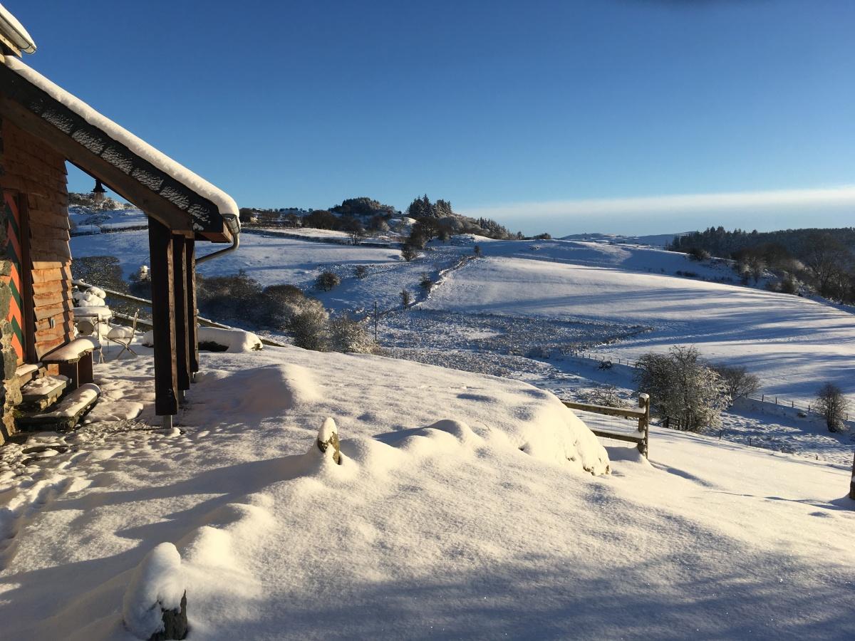 North wales snow scene