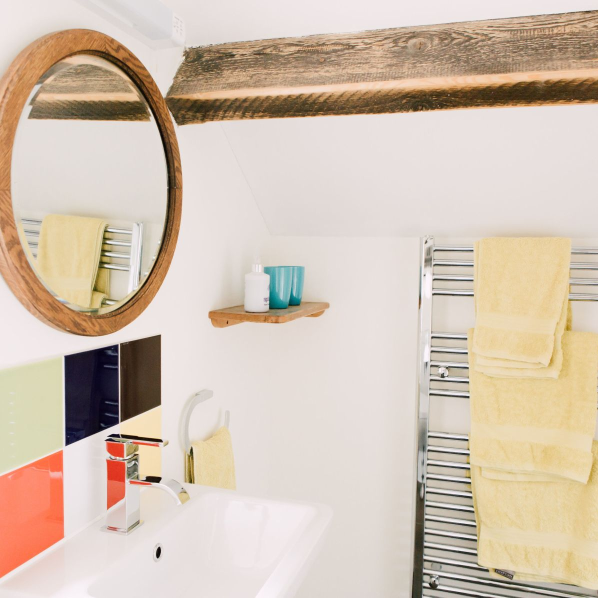 towel rail and sink